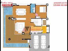 thiết kế nhà 2 tầng 100m2 4 phòng ngủ có gara