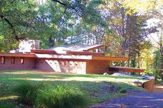Robert and Rae Levin House. 1949. Kalamazoo, Michigan. Usonian Style. Frank Lloyd Wright