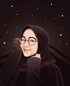 Girly Drawings, Colorful Drawings, Human Icon, Line Art Vector, Caricature, Anime Muslim, Hijab Cartoon, Islamic Girl, Cute Girl Wallpaper