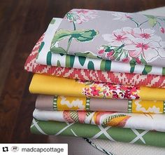 Always my inspiration, @madcapcottage have done it again with their beautiful fabrics for Robert Allen 💖 Your designs always make me smile 😊 Bravo Gents 👏👏👏