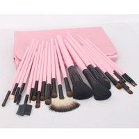 23pcs Pink Professional Cosmetic Makeup Make up Brush Brushes Set Kit With Bag Case $12.  Since I want to go into cosmetology I may need this. But I wish they had purple!