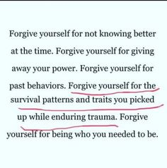 Quote on forgiveness and Trauma Words Quotes, Wise Words, Life Quotes, Sayings, Shame Quotes, Guilt Quotes, Music Quotes, Wisdom Quotes, Quotes Quotes