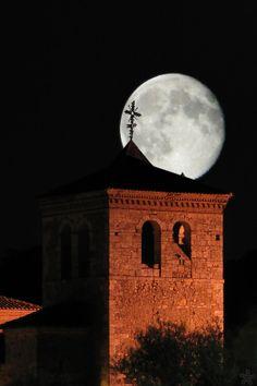 *Full Moon Over Church Of Saint Bartholomew (by CVM)