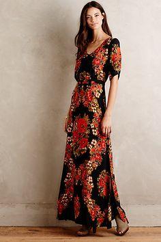8d51ac9158a62 Wreathed Maxi Dress #anthropologie Roupas Fashion, Floral Maxi Dress, Orange  Maxi Dresses,