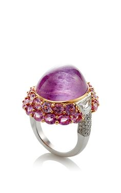 Pink Sapphire Cabochon Ring by GIOIA for Preorder on Moda Operandi
