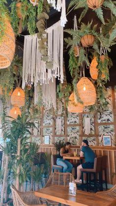 Mexican Restaurant Design, Deco Restaurant, Rooftop Restaurant, Restaurant Interior Design, Bohemian Restaurant, Organic Restaurant, Restaurant Interiors, Cafe Shop Design, Coffee Shop Interior Design
