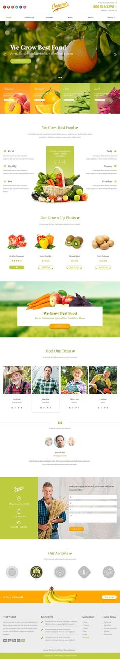 Organic is a bright and eye catching design for agriculture topic. The theme can be used for small farm website, organic food store or market. We built the theme with further conversion to HTML and WordPress in mind. The theme has logical and thought through layout aiming to satisfy customers needs and purposes. Carefully layered and named PSD files is a must, and sure enough this theme is not ex... -- You can get more details by clicking on the image. #WebDesignLayout