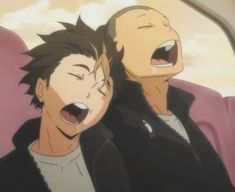 ImageFind images and videos about haikyuu, tanaka and nishinoya on We Heart It - the app to get lost in what you love. Haikyuu Meme, Haikyuu Karasuno, Nishinoya, Anime Profile, Anime Screenshots, Anime Life, Editing Pictures, Aesthetic Anime, Cute Stickers