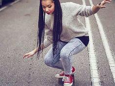 Tresses afro : Tresse sur toute la tête                              …