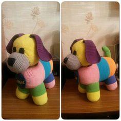 Собачка всех цветов радуги