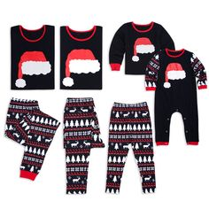 Check out my new Cute Christmas Hat Print Family Matching Pajamas, snagged at a crazy discounted price with the PatPat app. Family Pajama Sets, Matching Family Christmas Pajamas, Family Pjs, Matching Pajamas, Cute Pajamas, Matching Family Outfits, Christmas Shirts, Christmas Hat, Christmas Clothing
