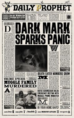 Daily Prophet: Dark Mark Sparks Panic