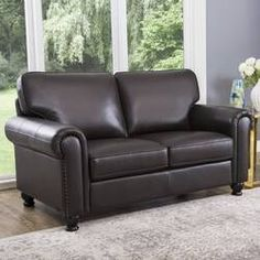 Shop for Abbyson London Brown Top Grain Leather Loveseat. Get free delivery On EVERYTHING* Overstock - Your Online Furniture Store! Small Loveseat, Small Leather Loveseat, Love Seat, Furniture, Home, Traditional Furniture, Online Furniture Stores, Leather Sofa Set, Leather Loveseat