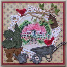 Trijntjes Kaarten: maart 2015 Cute Cards, Diy Cards, Marianne Design Cards, Scrapbook Cards, Scrapbooking, Garden Theme, Graphic 45, Paper Design, Cardmaking