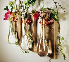 Test tube vases.