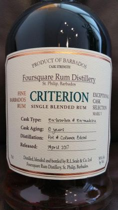 Foursquare Criterion Exceptional Cask Selection Mark V - Tasting - Ruminfo.de