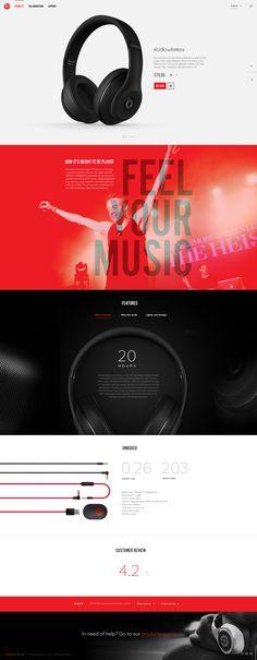 BeatsByDre concept on Web Design Served Mobile Web Design, Web Ui Design, Graphic Design, Web Dashboard, Ui Web, Multimedia, Mailer Design, Site Vitrine, Website Design Inspiration