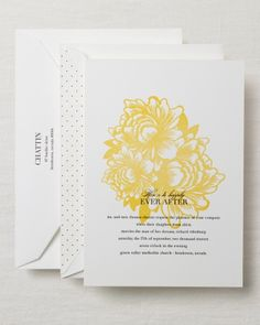 A cheery yellow design livens up this preppy invite