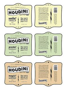 houdini soap | package design by andrea streeter | a package design concept for a line of organic soaps with a magic theme. Inspired by the stores of 826 national | image 2