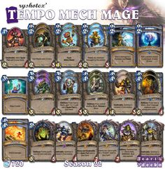 #Hearthstone Tempo Mech Mage | S22