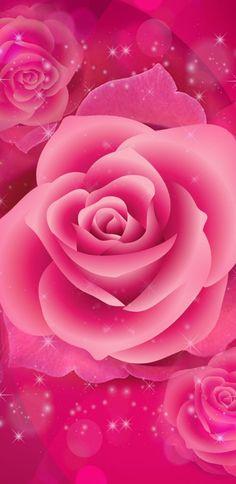 By Artist Unknown. Mermaid Wallpaper Backgrounds, Pink Wallpaper Girly, Power Wallpaper, Wallpaper Nature Flowers, Rose Flower Wallpaper, Bling Wallpaper, Beautiful Flowers Wallpapers, Beautiful Rose Flowers, Heart Wallpaper