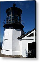 Cape Meares Lighthouse Photograph by Chalet Roome-Rigdon - Cape Meares Lighthouse Fine Art Prints and Posters for Sale
