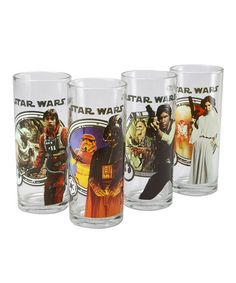Father's Day gift for the Hubs=totally covered, and WINNING. Look at this #zulilyfind! Star Wars 10-Oz. Glass Set #zulilyfinds