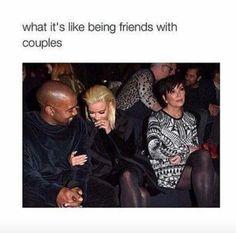 Kris Jenner plays gooseberry with Kim and Kanye West at Balmain Kris Jenner, Kardashian Jenner, Third Wheel Quotes, Kim And Kanye, I Love Girls, Funny Facts, Funny Quotes, Kanye West, Funny Images