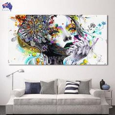 Cheap canvas art, Buy Quality art girl directly from China art modern Suppliers: HDARTISAN Modern Canvas Art Girl With FLowers Wall Pictures For Living Room Modular Pictures Home Decor Frameless Impression sur toile Femme et Fleurs – MammaMia Deals Brig Cheap Canvas Art, Modern Canvas Art, Modern Wall Art, Canvas Poster, Canvas Wall Art, Artwork Wall, Canvas 5, Poster Wall, Canvas Frame
