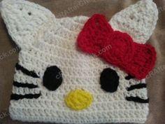 cd1598cde34 Hello Kitty Character Beanie Hat Crochet Pattern - free crochet pattern  from cRAfterChick.com Crochet