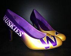 Washington Huskies pumps! @Washington Huskies @University of Washington #washington #huskies #heels