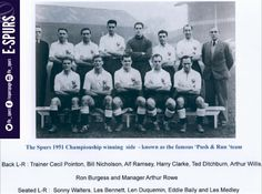 Spurs On This Day: 1951 - Spurs beat Man. United 2-0 in the record attendance for a League match at home - 70,882.