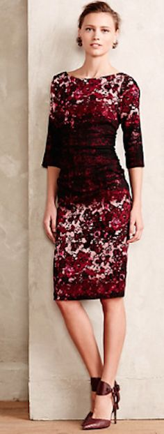 gorgeous red motif dress #anthrofave  http://rstyle.me/n/rtp4wpdpe