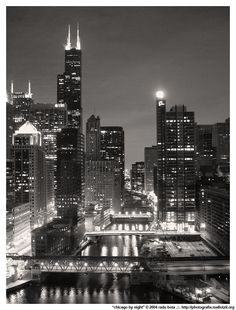 """""""My kind of town, Chicago is!"""" I love it at night!"""