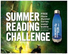 FREE Maze Runner Series Water Bottle for Summer Reading at Books-A-Million Stores - http://freebiefresh.com/free-maze-runner-series-water-bottle-for-summer-reading-at-books-a-million-stores/
