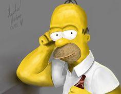 Ознакомьтесь с моим проектом в @Behance: «Homer Simpson»…
