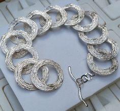 925 Sterling Silber Armband handgefertigte von von TalyaDesign