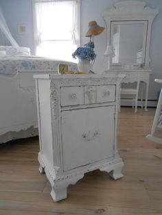 SOLD   shabby chic furniture table night table by backporchco on Etsy, $159.00