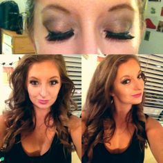 Sepia Purple Eye Look + Big Hair + Big Lashes Easy tutorial for glam!
