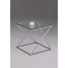 FOR HUGO BOSS @Overstock - Contemporary Chrome Metal Glass Square End Table - This contemporary side table has a beautiful chrome finish with a tempered clear glass top. The living space accent piece is ideal for use as a phone table, lamp table, decorative display table or book shelf.   http://www.overstock.com/Home-Garden/Contemporary-Chrome-Metal-Glass-Square-End-Table/9240519/product.html?CID=214117 $67.99