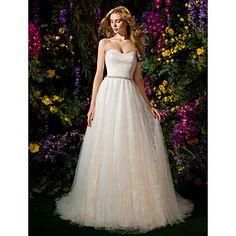 Ball Gown Sweetheart Tulle Chapel Train Wedding Dress (2148894) – EUR € 232.08