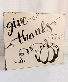 Loving this Wood 'Give Thanks' Block Sign on #zulily! #zulilyfinds
