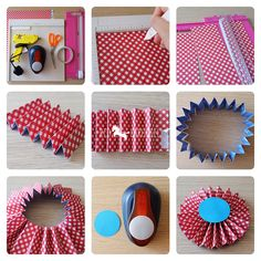 tutorial rosettes paper fans medallions