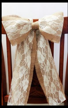 Rustic burlap lace wedding ideas
