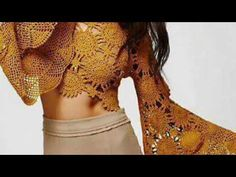 Vestido circulo vídeo 1 - YouTube Crochet Baby Sweaters, Crochet Tops, Crochet Bodycon Dresses, Crotchet Patterns, Summer Patterns, Crochet Videos, Boho Tops, Crochet Bikini, Bikini Tops