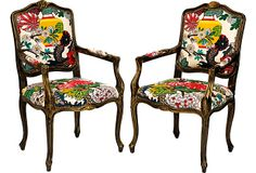 Custom Chiang Mai Dragon Chairs, Pair on OneKingsLane.com