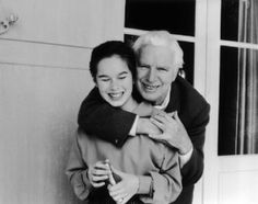 Geraldine and her father, Charlie Chaplin. How cute!
