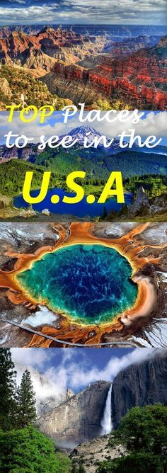 http://www.greeneratravel.com/ Trip Deals - Top Places to see in the USA - Destination Guide #USA #travel #destinationguide