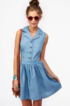 Chambray Cutout Dress...ADORABLE!!!