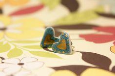 Kansas City Royals LOVE Porcelain Heart by SweetMudClayWorks